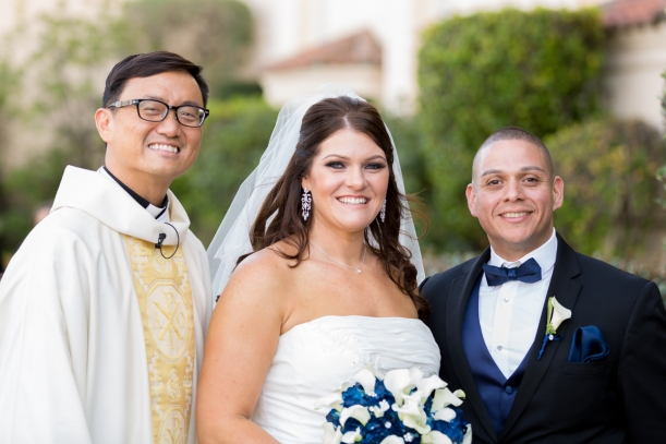Bride & Groom Formal Wedding Photo at Saint Cecilia Catholic Church in San Francisco, CA