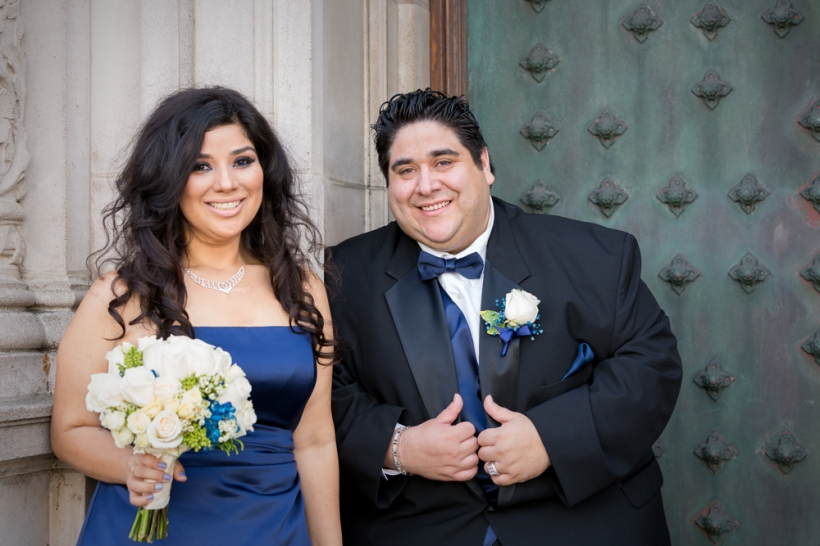 Maid of Honor and Best Man Photo at Wedding Ceremony in San Francisco, CA