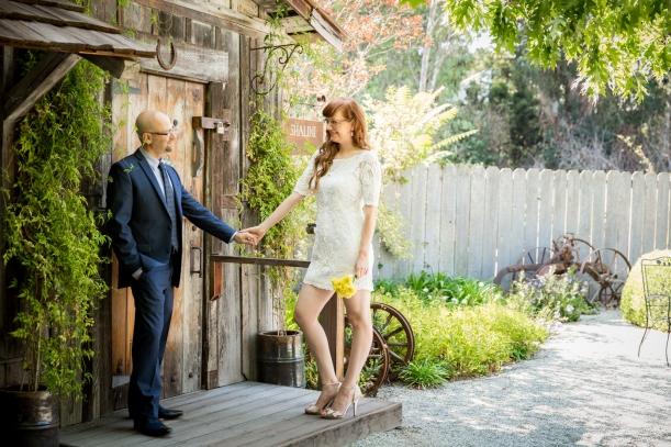 Wedding Portrait at Allied Art Guild, Menlo Park, CA