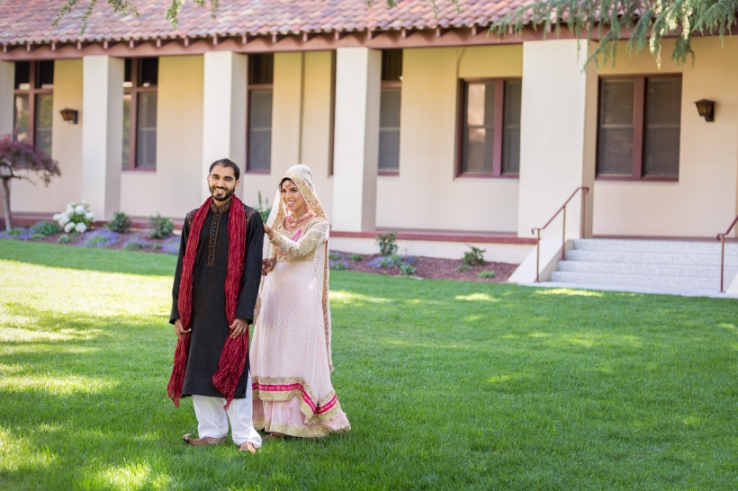 First Look during Pakistani Wedding in Santa Clara, CA