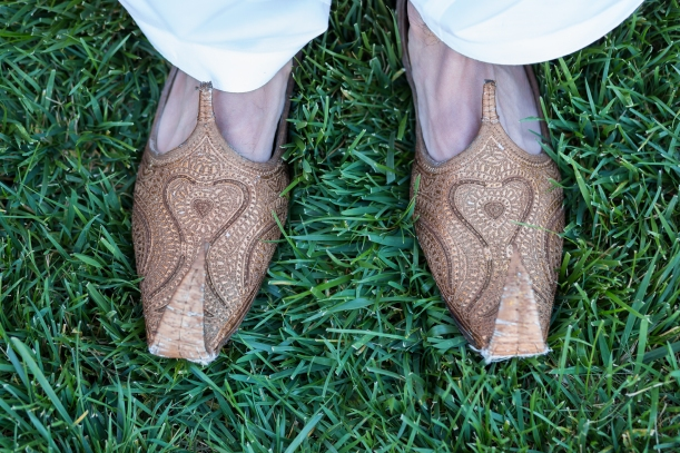 Groom's Shoes during a Pakistani Wedding Ceremony in Santa Clara, CA