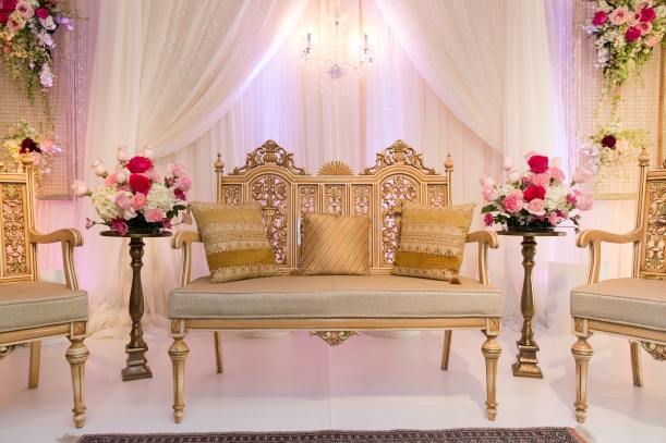 Mandap Decoration at Pakistani Wedding Ceremony in Fremont, CA