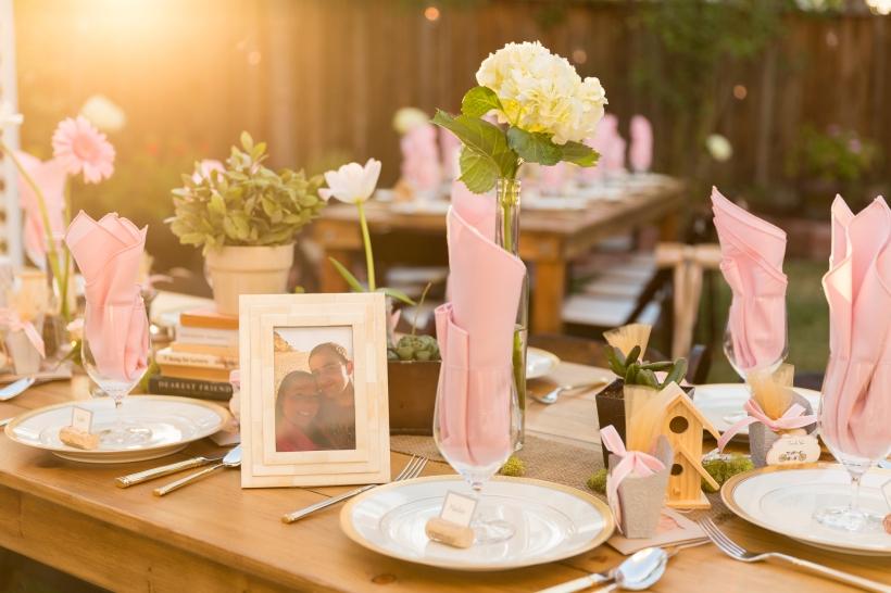 Wedding Decorations at Romantic Backyard Wedding in Livermore, CA
