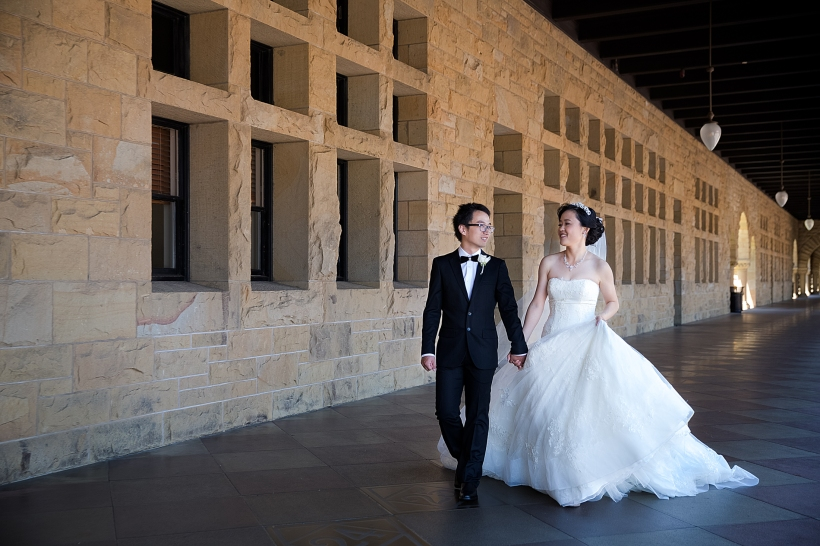 Elegant Wedding at Memorial Church in Stanford University